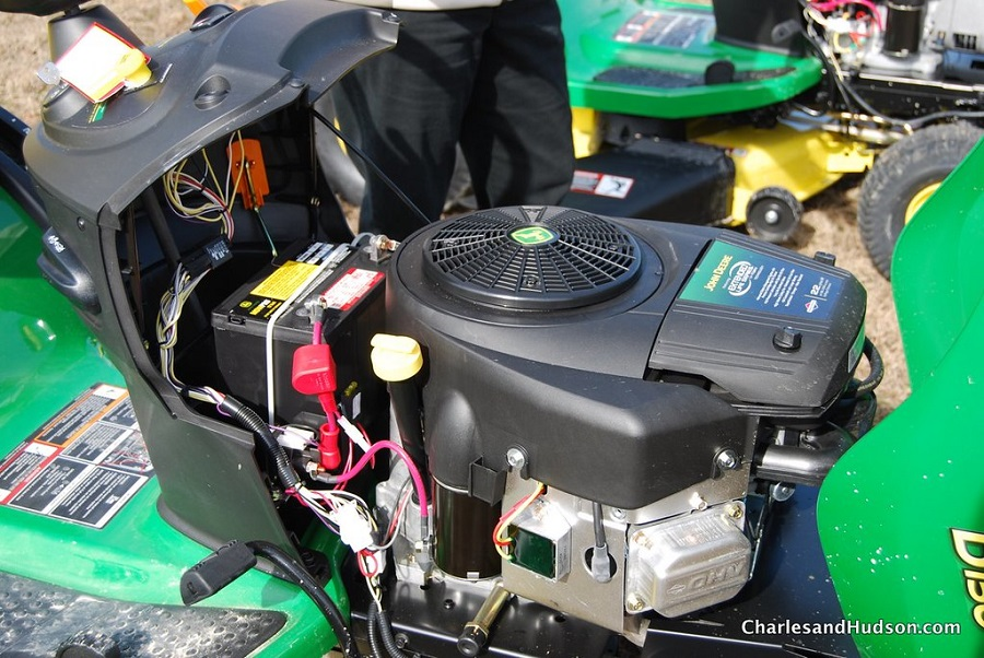 How to Put a Belt on a John Deere lawnmower, step by step 1