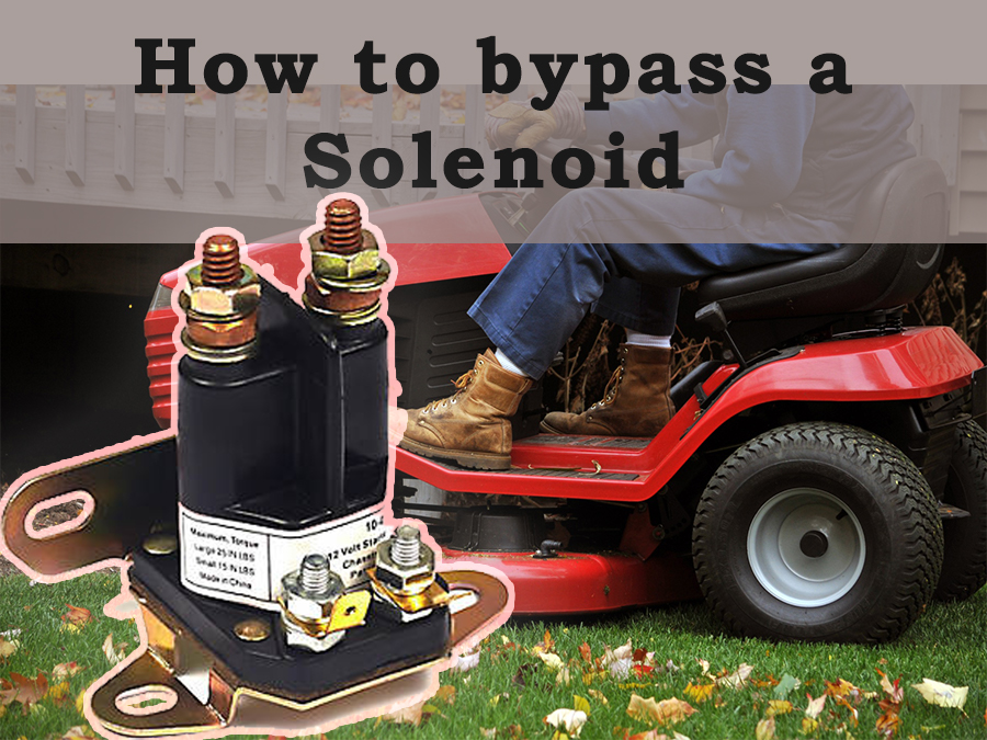 How to bypass a solenoid starter on a lawnmower, step by step 1