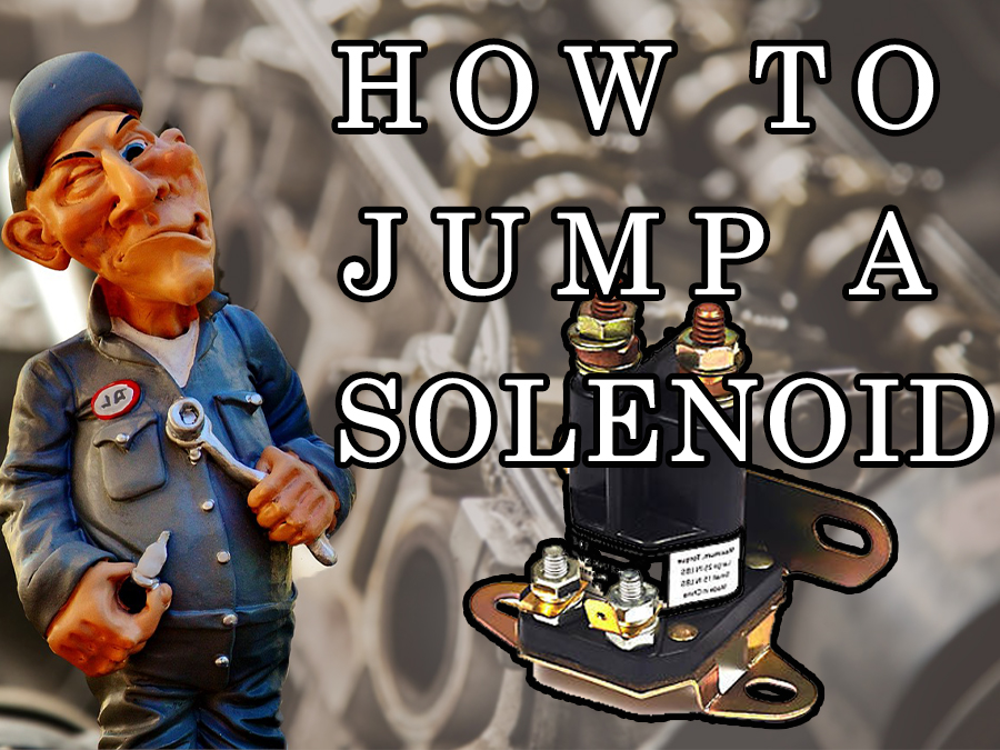 How to jump a solenoid on a lawnmower, step by step 1