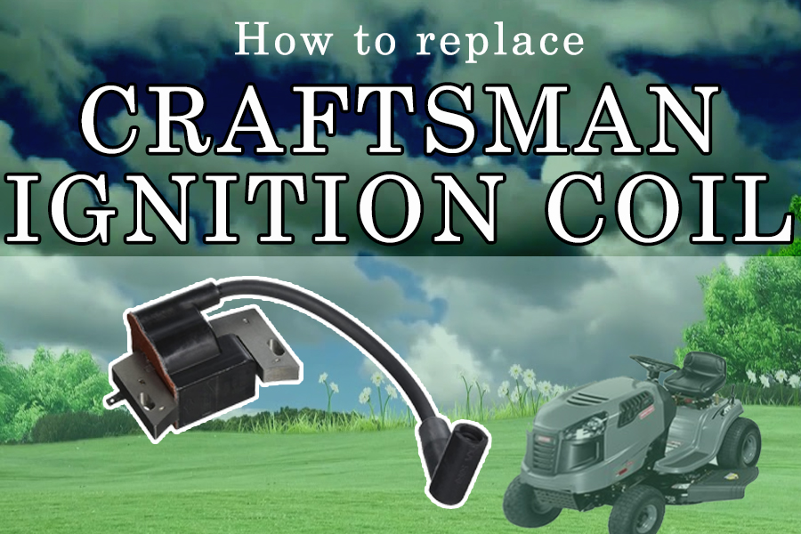 How to replace a coil on a Craftsman riding lawn mower, step by step 1
