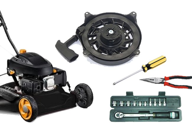 How to Rewind the Lawnmower Recoil Spring, step by step 1