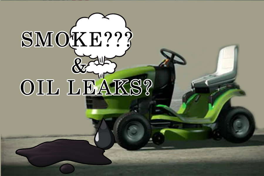 Lawnmower blowing white smoke and leaking oil, why? These are the potential causes 1